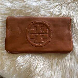 Tory Burch Tan Leather Clutch